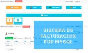 Sistema de Facturación en Php y Mysql