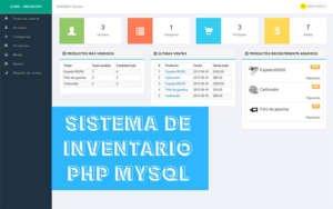 Sistema de Inventario en PHP y MYSQL