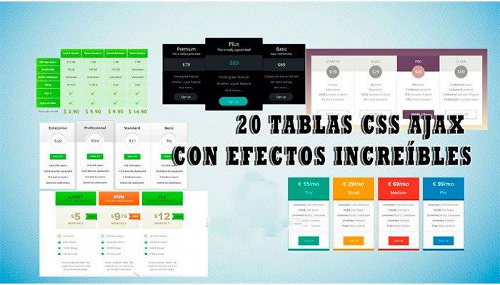 diseño de tablas en html y css