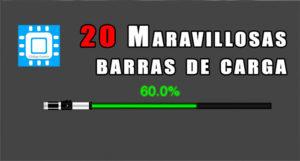 20 Maravillosas barras de carga (GIF animado)