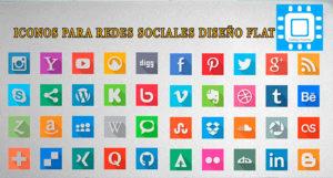 40 iconos para Redes Sociales Diseño Flat