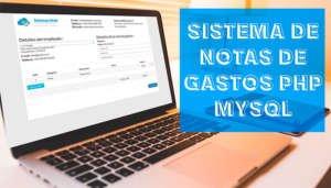 Sistema Web de Notas de Gastos Php y Mysql