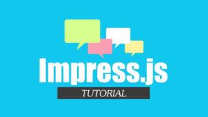 Presentaciones en Linea con Impress.js