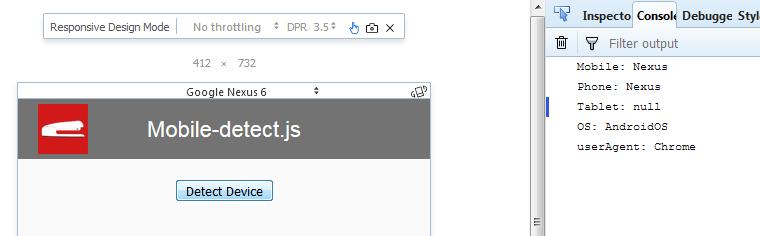 javascript detectar dispositivo