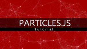 Tutorial Particles.js - Crear efecto de Partículas con Javascript