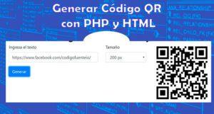 Generar códigos QR con PHP y HTML